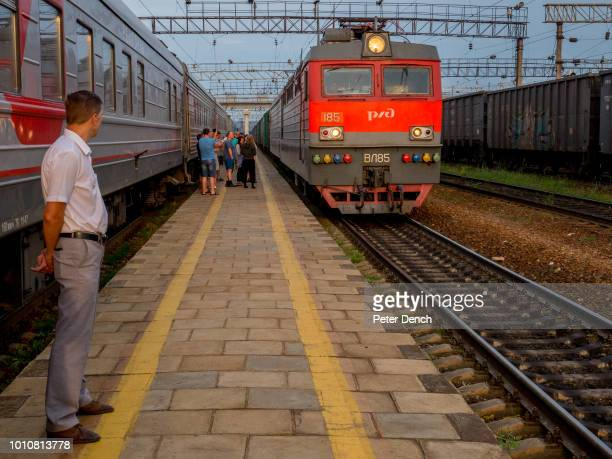 A conductor on the TransSiberian Railway from MoscowVladivostok Spanning a length of 9289km it's the longest uninterrupted single country train...