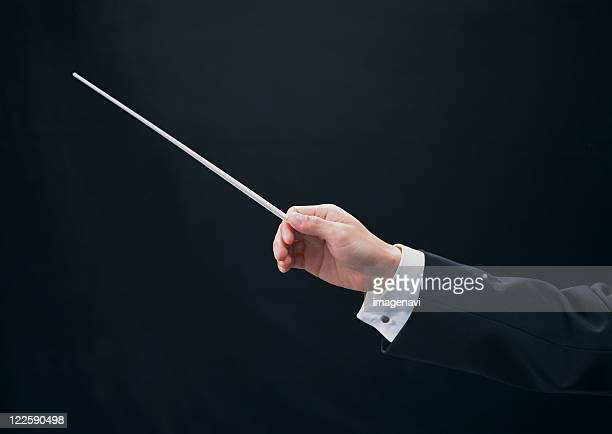conductor - conductor's baton stock photos and pictures