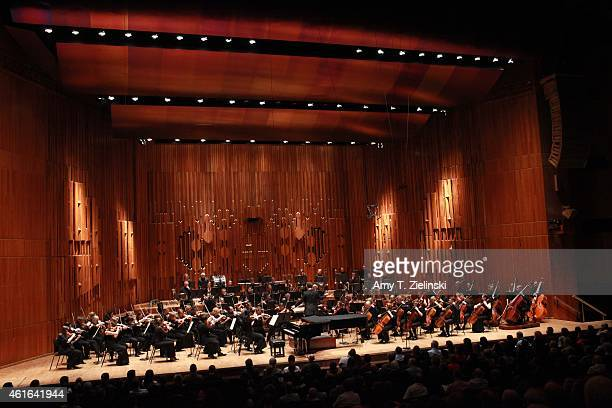 Conductor Sakari Oramo leads the BBC Symphony Orchestra in Sibelius 'The Dryad' at Barbican Centre on January 16 2015 in London England