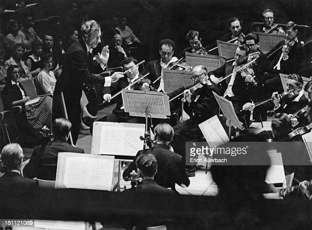 Conductor Samuel Rosenheim at the Royal Festival Hall in London, 16th September 1958.