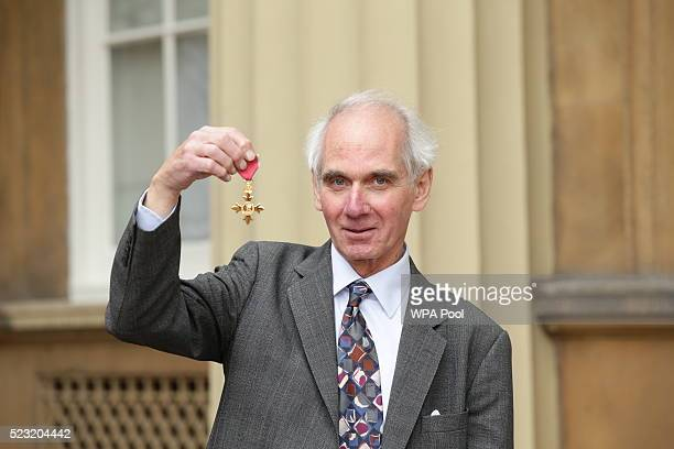 Conductor Steuart Bedford after he received an OBE from the Prince William Duke of Cambridge for services to music at an investiture ceremony at...