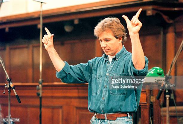 Conductor Thierry Fischer conducts at a church on July 1st 1997 in Amsterdam, Netherlands.