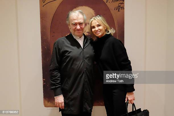 Conductor Valery Gergiev and Corinna zu SaynWittgenstein are seen during the Vienna Philharmonic Orchestra Performance at Carnegie Hall on February...