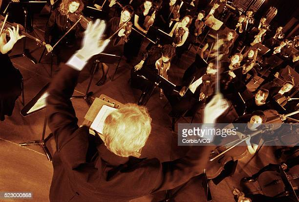 Conductor with His Orchestra