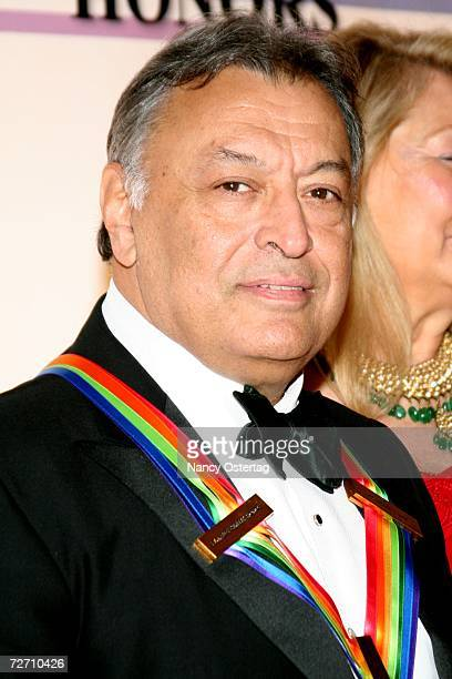 Conductor Zubin Mehta poses at The 29th Annual Kennedy Center Honors December 3 2006 in Washington DC