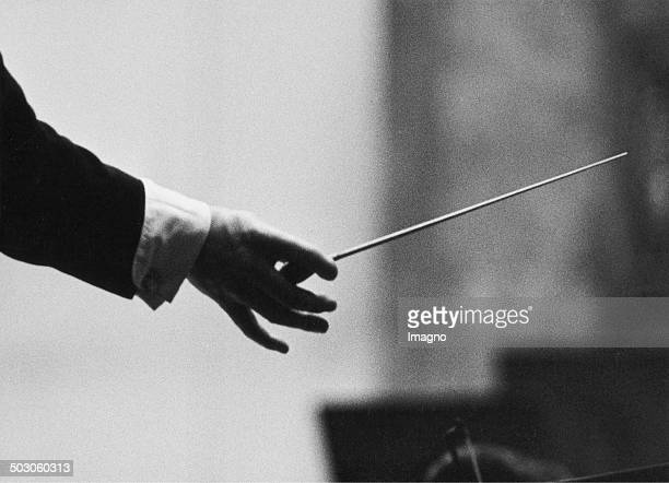 Conductor's hand with baton About 1960 Photograph by Franz Hubmann