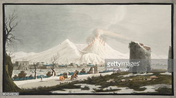 Cone of Venus covered with snow Plate V from 'Campi Phlegraei Observations on the Volcanoes of the Two Sicilies' by Sir William Hamilton published...