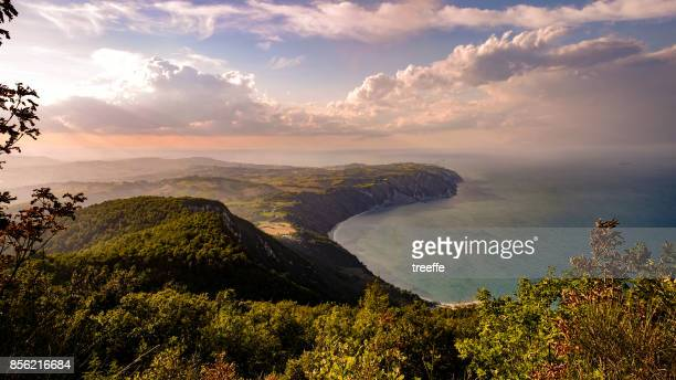 conero natural park - adriatic sea stock pictures, royalty-free photos & images