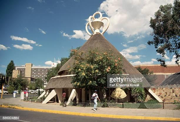 cone-shaped building in maseru - マセル ストックフォトと画像