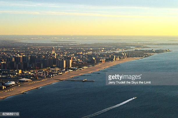 Coney Island and Brighton Beach with Jamaica bay in background