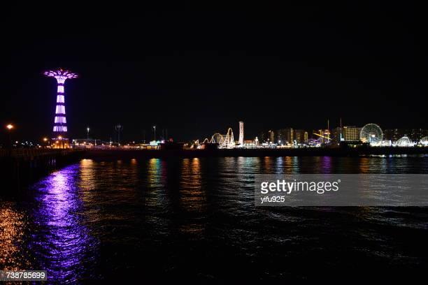 coney island beach, new york, america, usa - ブルックリン コニー・アイランド ストックフォトと画像