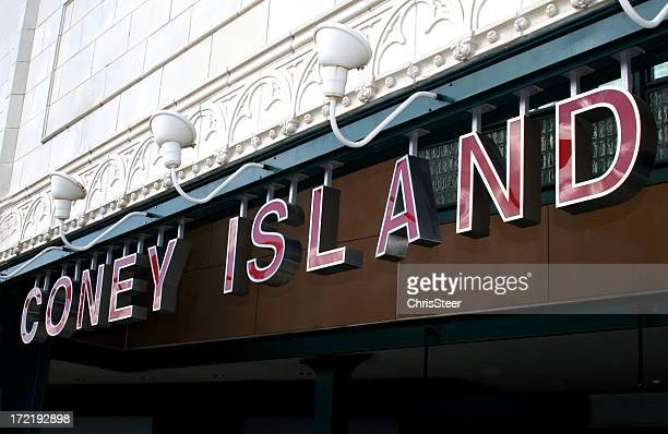 coney island - historic seaside town, brooklyn new york - coney island stock pictures, royalty-free photos & images