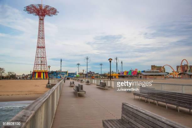Coney Island, New York, Luna Park Amusements deserted out of season