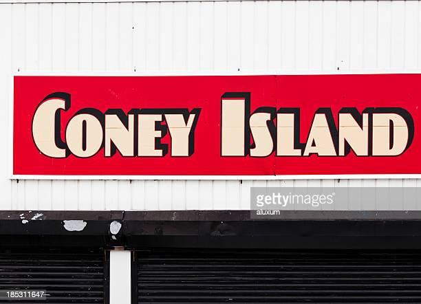 coney island new york - coney island stock pictures, royalty-free photos & images