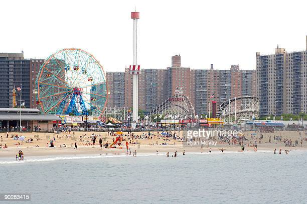 coney island, new york - coney island stock pictures, royalty-free photos & images