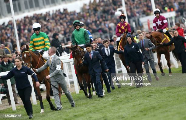 Coney Island ridden by Mark Walsh Footpad ridden by Ruby Walsh Monalee ridden by Rachel Blackmore and Road To Respect ridden by Sean Flanagan before...