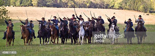 Confederate Cavalry Charge in the Shenandoah Valley, Virginia