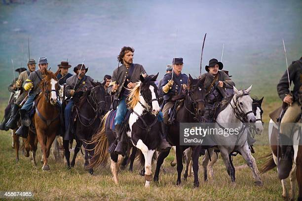confederate cavalry in the shenandoah valley, virginia - cavalry stock pictures, royalty-free photos & images