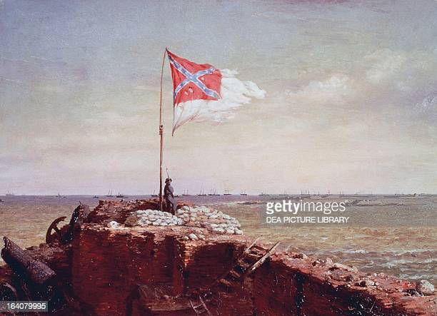 Confederate flag at Fort Sumter South Carolina October 20 oil on canvas by Conrad Wise Chapman American Civil War United States 19th century Richmond...