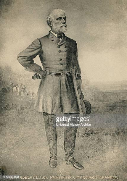 Confederate General Robert E Lee Portrait Painting 1860's
