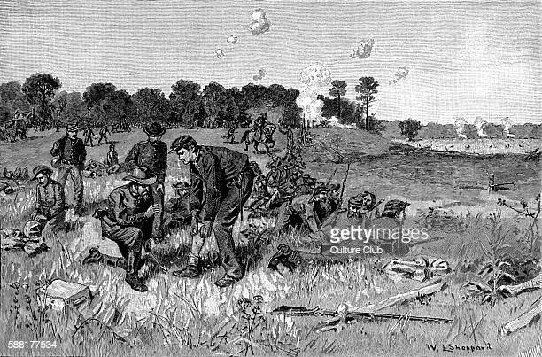 Confederate line waiting orders in the Wilderness by W L Sheppard The Battle of the Wilderness fought between 5 and 7 May 1864 was the first of...