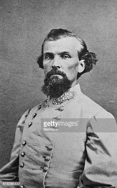 Confederate Major General Nathan Bedford Forrest He was also the founder of the Ku Klux Klan and leader from 18661869 Undated photograph