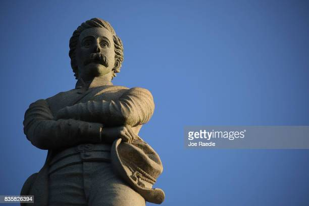 Confederate monument featuring an 8foot statue of a Confederate soldier is seen in Lee Park in the midst of a national controversy over whether...