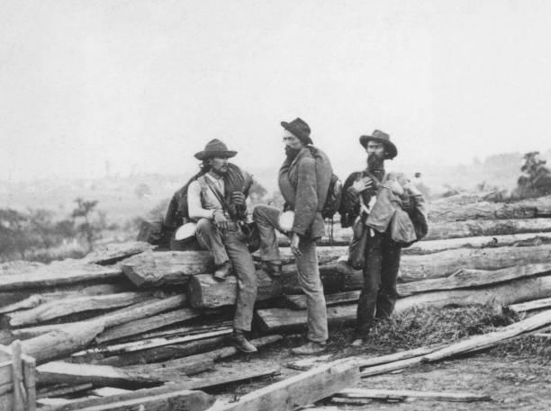 Confederate prisoners at Seminary ridge during the...