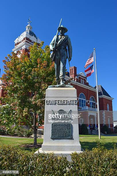 Confederate Soldier Monument in Forsyth, Georgia