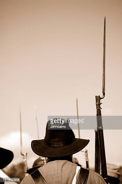 confederate soldier - bayonet stock pictures, royalty-free photos & images