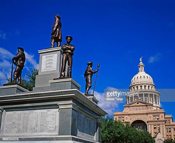 confederate soldiers monument - confederate army stock pictures, royalty-free photos & images