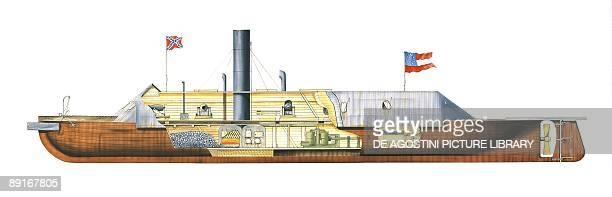 Confederate States Navy ironclad Virginia illustration