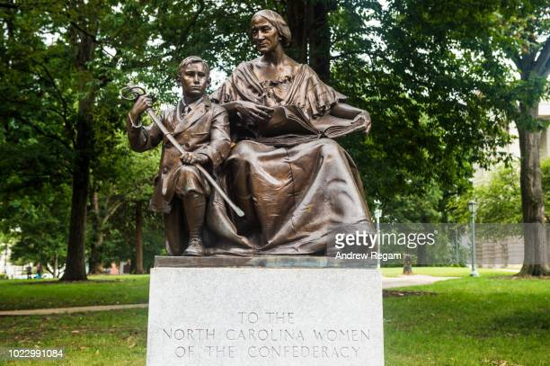 Confederate statues Raleigh, N.C Capitol grounds.