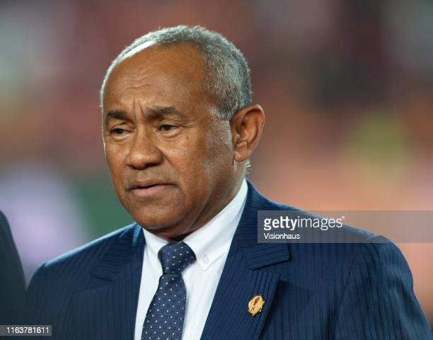 Confederation of African Football CAF President Ahmad Ahmad during the 2019 Africa Cup of Nations Final between Senegal and Algeria at at the Cairo...