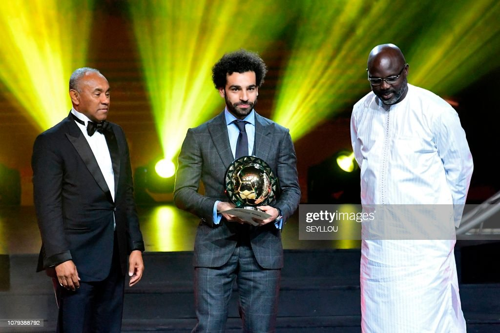 TOPSHOT-FBL-AFR-CAF-AWARD-BALLON-D'OR : News Photo