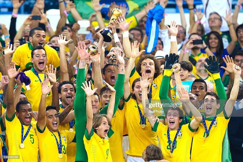 Brazil Beats Spain 3-0 To Win Confederations Cup : News Photo