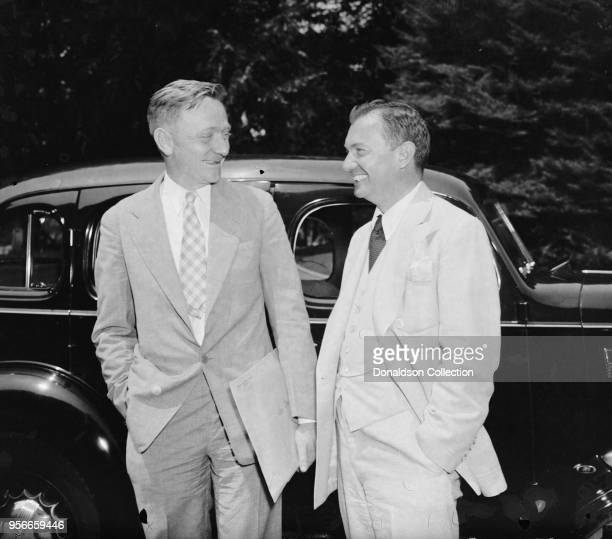 Confer with President on anti-trust matters. Washington, D.C., June 24. William O. Douglas, Chairman of the Securities and Exchange Commission. Left;...