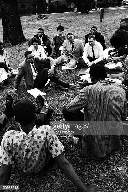 A conference about a sitin movement by student leaders from affected communities Raliegh North Carolina April 1960