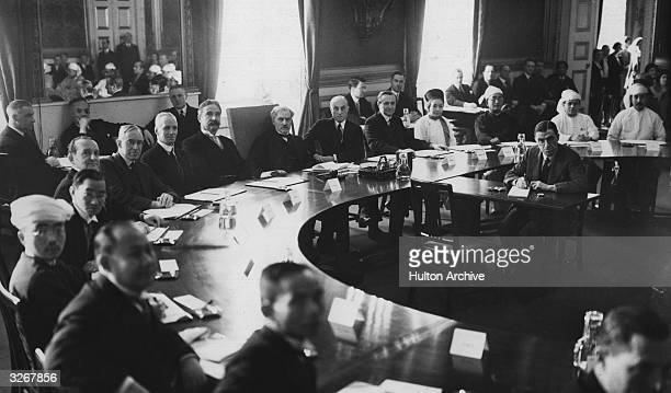 A conference on India in 1930 at St James Palace London with Ramsay MacDonald the first Labour Prime Minister in the centre of the formation of...