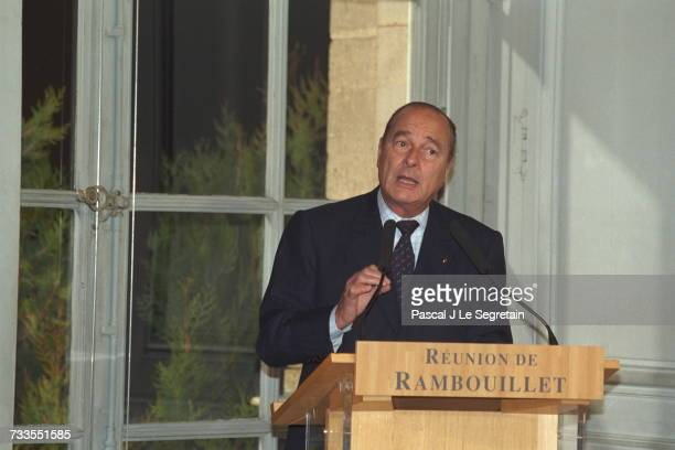 Conference On Kosovo In Rambouillet