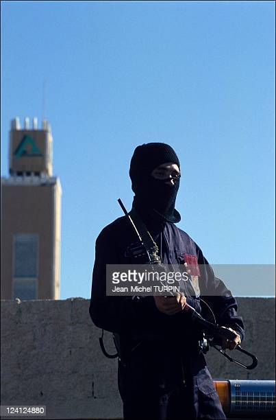 Conference on National Dialogue in Algiers Algeria on January 25 1994 Ninja in front of Nation Palace