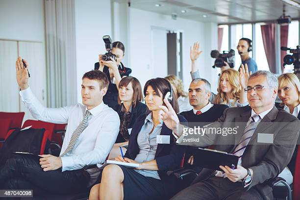 conference. - journalist stock pictures, royalty-free photos & images