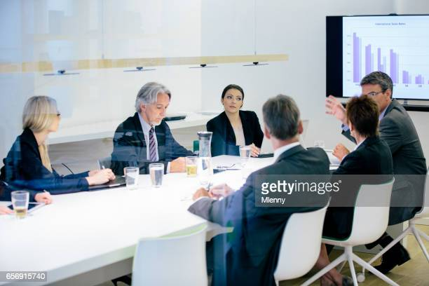 Conference Room Business Meeting Sales Numbers Presentation