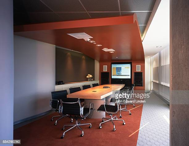 conference room in the nexspace office building - westwood neighborhood los angeles stock pictures, royalty-free photos & images