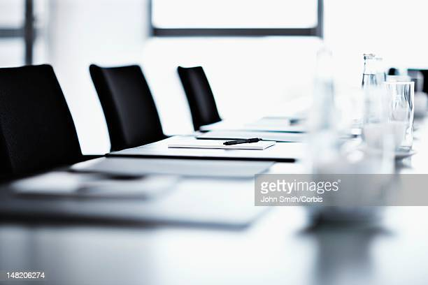 Conference room ready for meeting