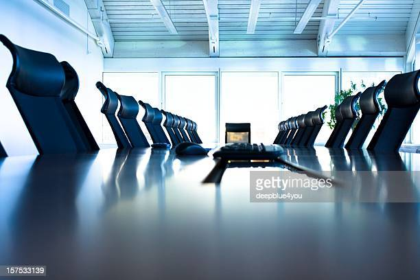 Conference room with large table and many chairs