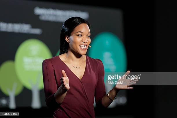 conference speaker - speech stock pictures, royalty-free photos & images