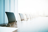 Conference table closeup