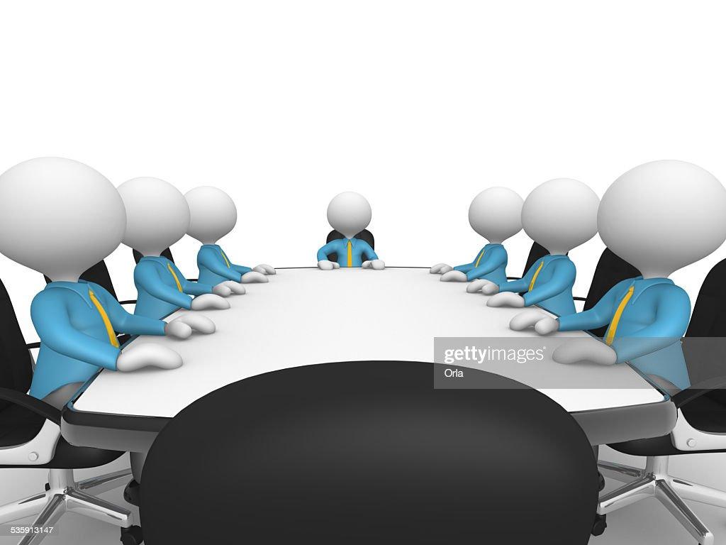 Mesa de Reunião : Foto de stock