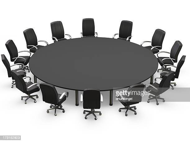 Conference table with chairs of black
